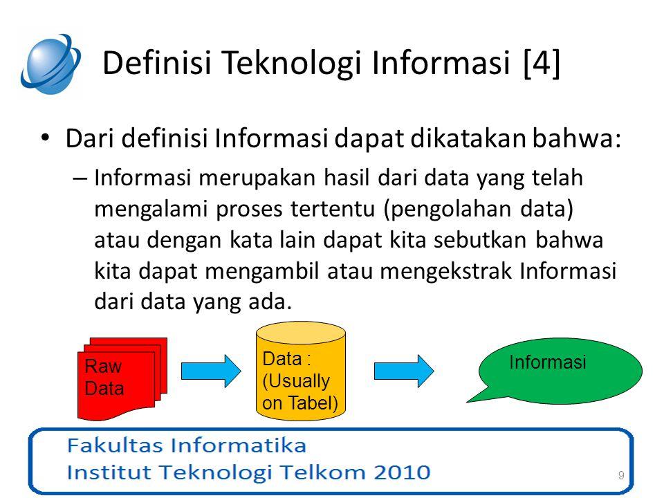 Definisi Teknologi Informasi [4]
